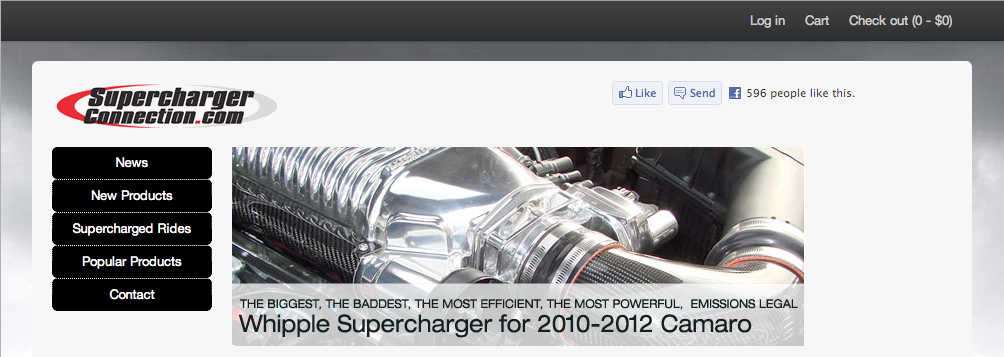 Supercharger Connection.com screenshot